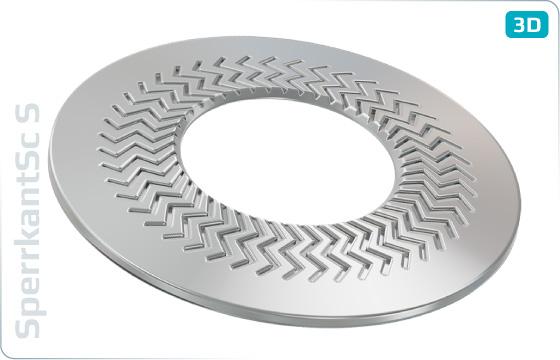 Pojistné kroužky kontaktní TECKENTRUP úzké (tvar S) - S
