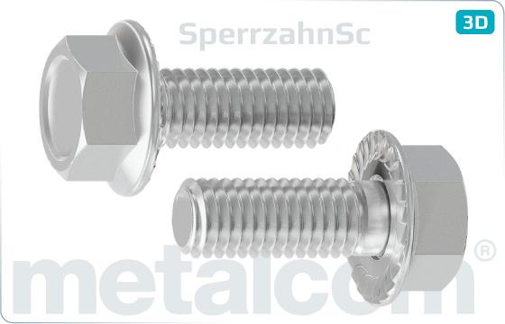 Śruby z łbem sześciokątnym z kołnierzem i uzębieniem Sperrzahn - SperrzahnSc