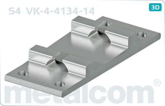 Podkładki do szyn żebrowe klinowe S4 - VK-4-4134-14