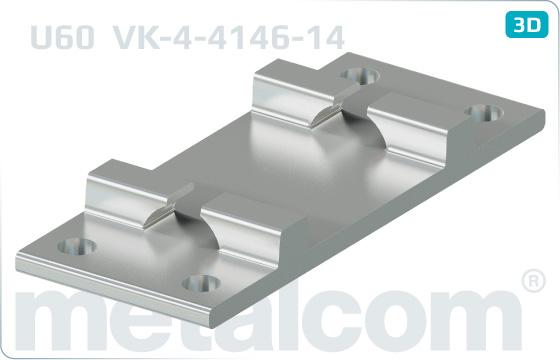 Podkladnice ploché žebrové U60 (kolejnice R65) - VK-4-4146-14