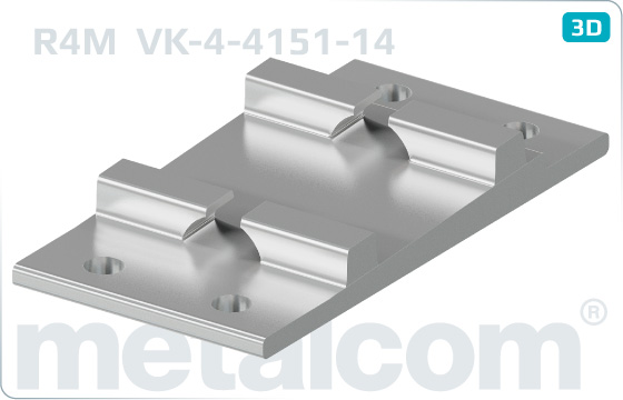 Base plates for sleepers R4M - VK-4-4151-14