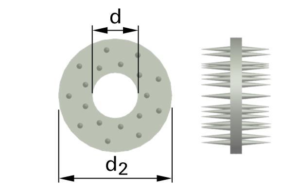 Pojistné kroužky pro dřevěné konstrukce typ C10 (Geka)