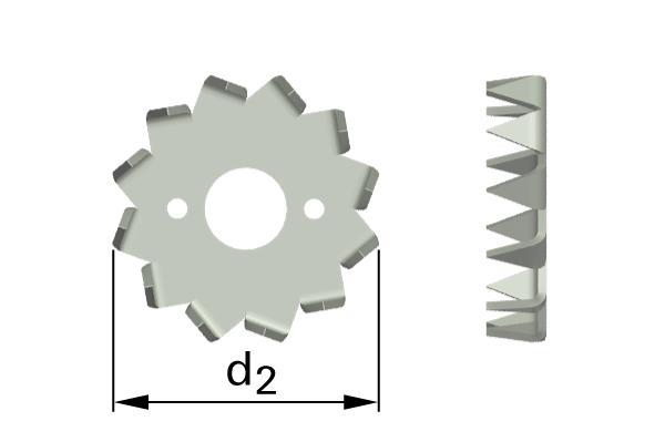 Pojistné kroužky pro dřevěné konstrukce typ C2 (Bulldog)