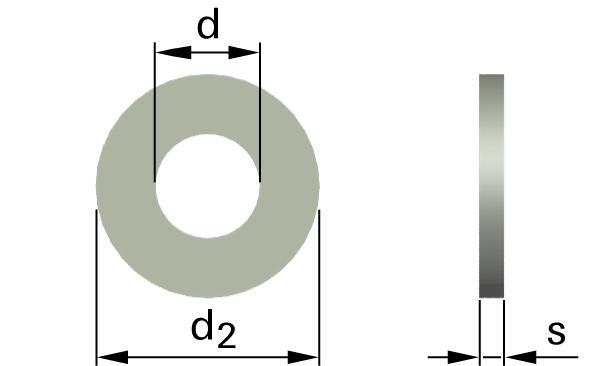 Podložky ploché pro šrouby se šestihrannou hlavou