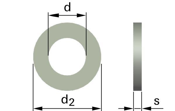 Podložky ploché pro čepy (velké)