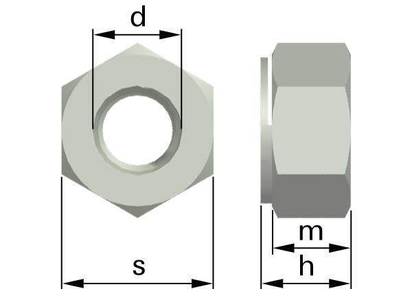 Matice šestihranné samojistné celokovové (Thermag)