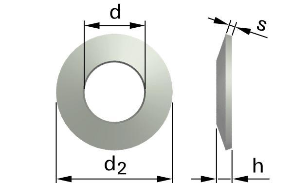 Podložky pružné talířové pružiny (tvar A)