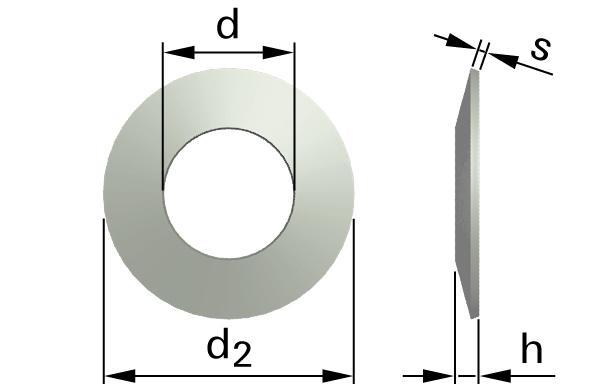 Podložky pružné talířové pružiny (tvar B)
