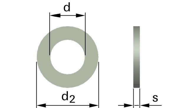 Podložky ploché pro šrouby s válcovou a půlkulatou hlavou