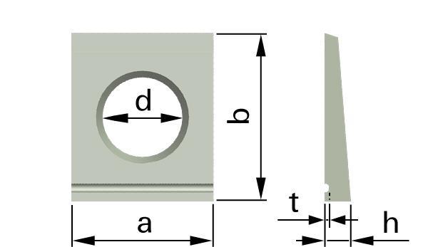 Podložky čtyřhranné pro nosníky I