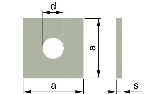 Podložky čtyřhranné pro dřevěné konstrukce