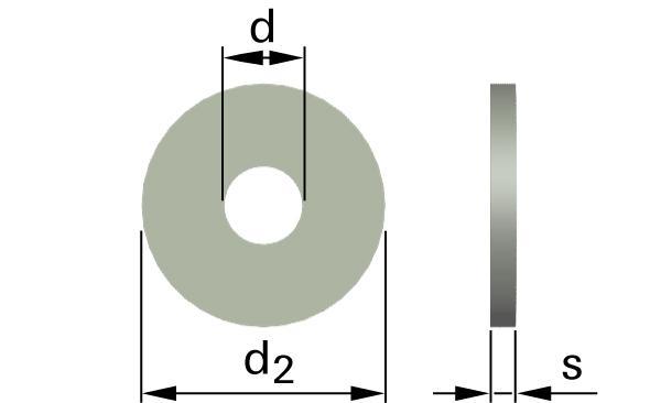 Podložky ploché pro dřevěné konstrukce