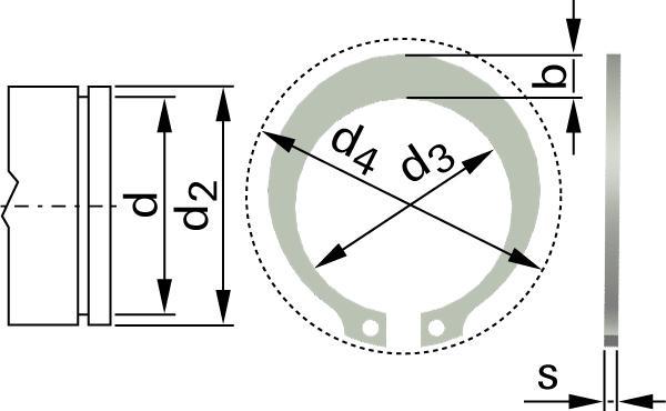 Pojistné kroužky pro hřídele