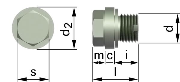 Hexagon locking screws with collar and vent