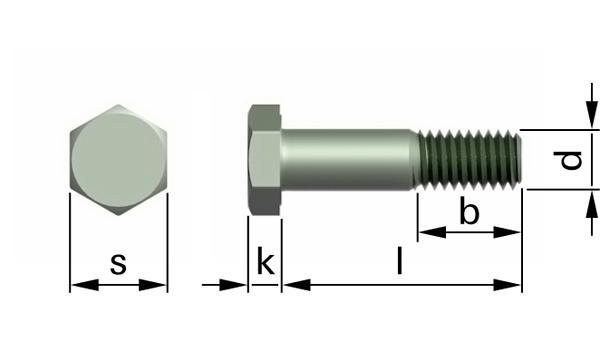 Šrouby se šestihrannou hlavou pro ocelové konstrukce HV