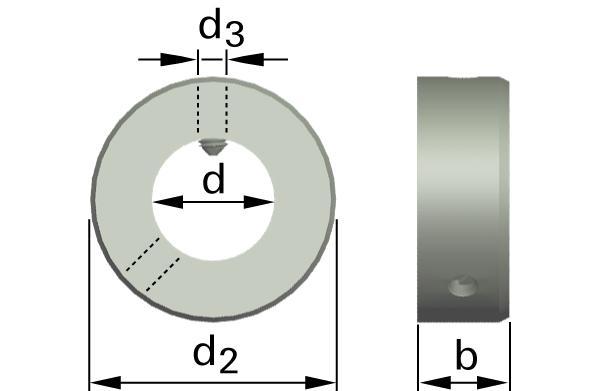 Podložky ploché stavěcí kroužky se stavěcím šroubem (těžký druh)