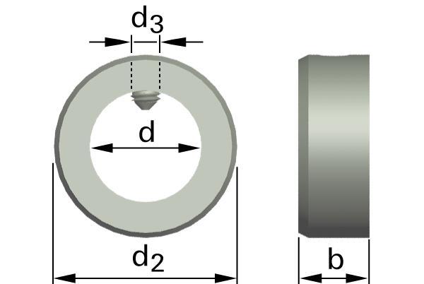 Podložky ploché stavěcí kroužky se stavěcím šroubem (lehký druh)