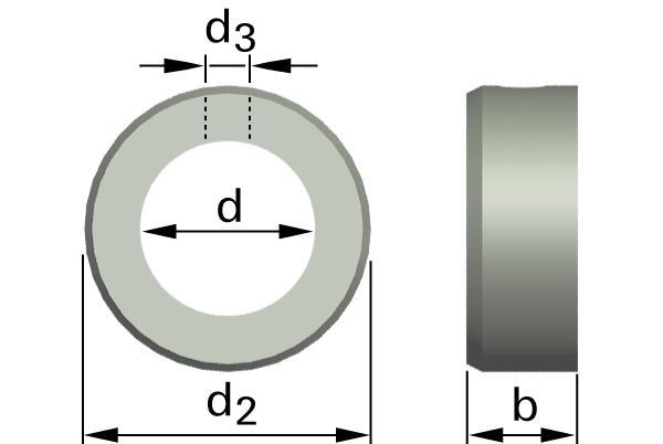 Podložky ploché stavěcí kroužky s dírou
