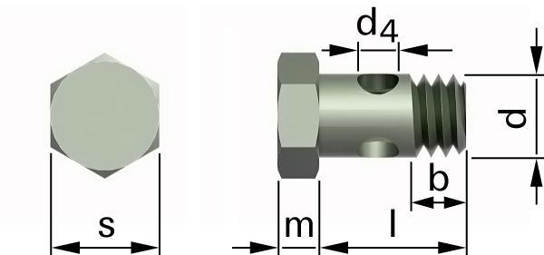 Śruby z łbem sześciokątnym śruba z gwintem częściowym i otworami w trzpieniu nad gwintem