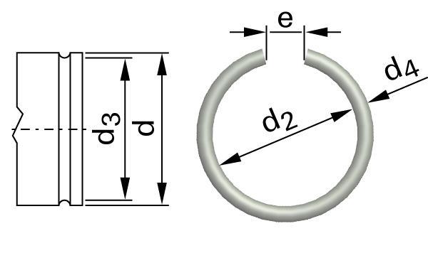 Pojistné kroužky drátěné kroužky pro hřídele