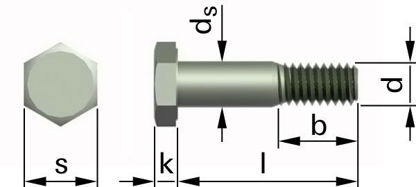 Śruby z łbem sześciokątnym licowane do konstrukcji stalowych sprężanych
