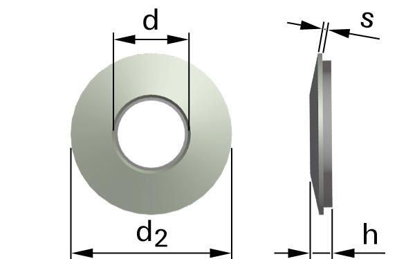 Podložky těsnící s EPDM těsněním pro šrouby se šestihrannou hlavou