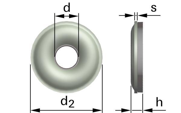 Podložky těsnící s EPDM těsněním pro šrouby se zápustnou hlavou