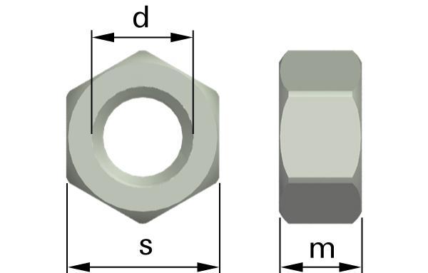 Matice šestihranné s jemným metrickým závitem