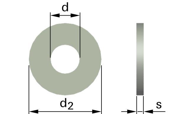 Podložky ploché AFNOR typ L