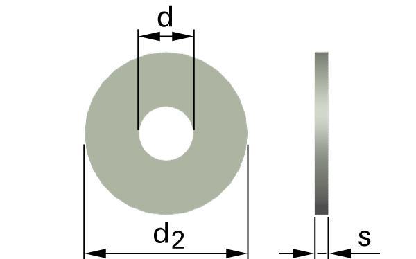 Podložky ploché AFNOR typ LL