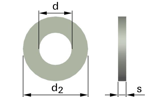 Podložky ploché AFNOR typ M