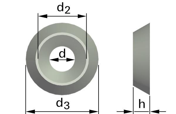 Podložky ploché rozety otevřené R1