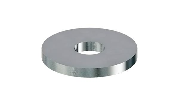 Plain washers for hard wood constructions