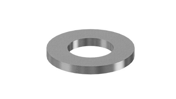 Plain washers for hexagon head bolts and nuts