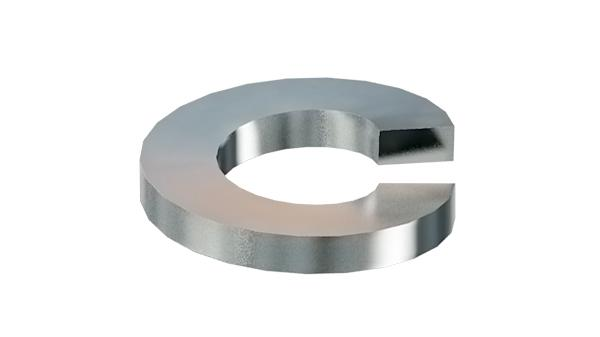 Spring washers single coil lock ( straight )
