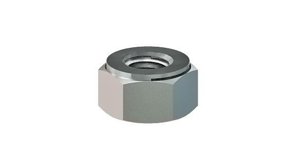 Hexagon nuts prevailing torque type, all-metal (Thermag)