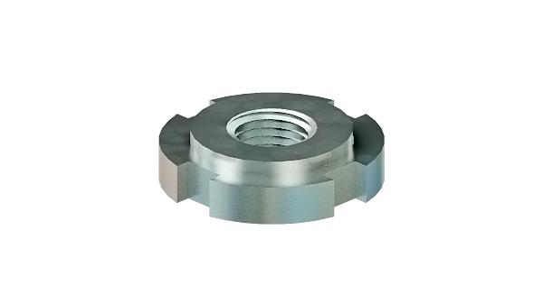 Slotted nuts round for hook spanner (W-unhardened, unground)