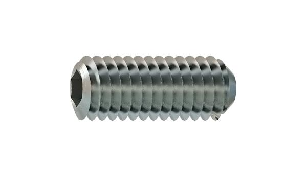 Set screws hexagon socket with cup point for milling cutters
