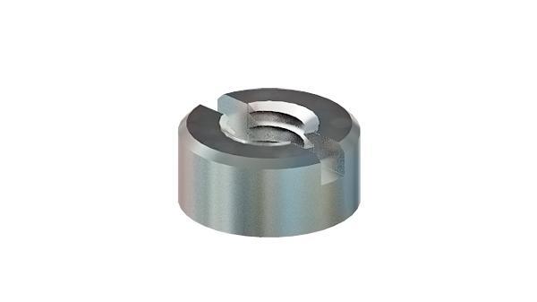 Slotted nuts round