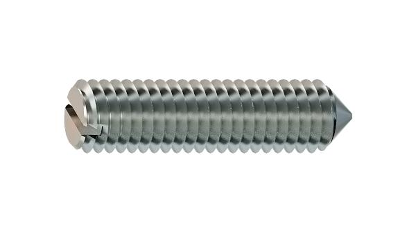 Set screws slotted with cone point