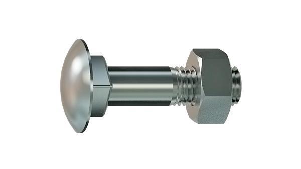 Nib or square neck bolts mushroom head square neck screws with hexagon nut