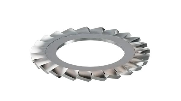 Serrated lock washers external teeth