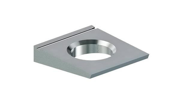 Square washers for high-strength structural bolting of steel I sections