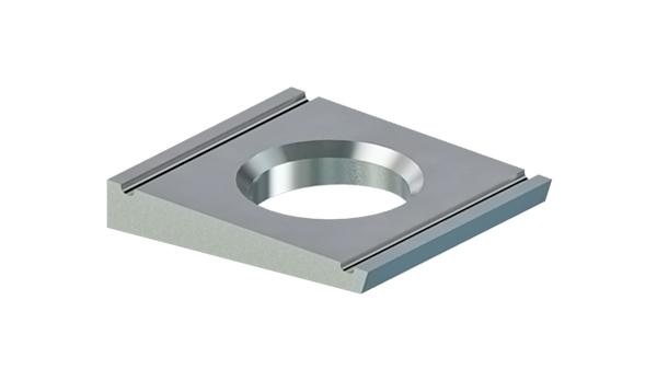 Square washers for high-strength structural bolting of steel channel sections
