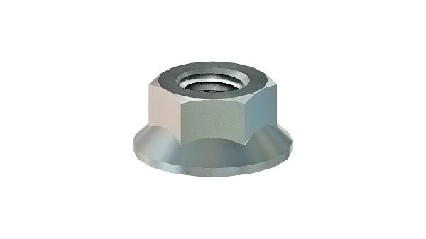 Hexagon nuts flange