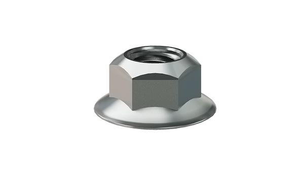 Hexagon nuts prevailing torque type, all-metal and with flange