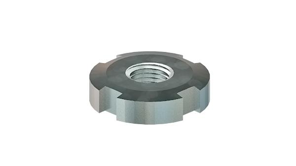 Slotted nuts round for hook spanner