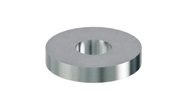 Plain washers for bolts with heavy spring pins