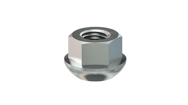 Hexagon nuts with spherical collar