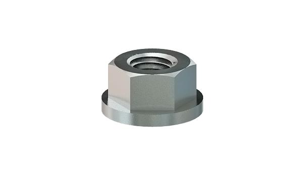 Hexagon nuts with flat collar